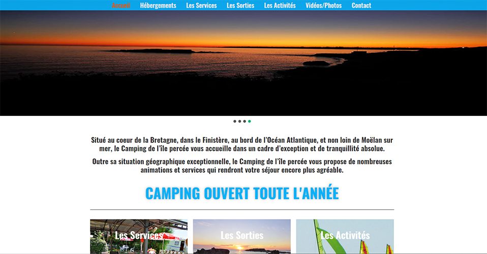 Création site Internet Camping