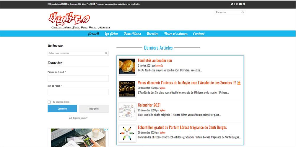 Site Internet d'actualité blog